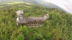 Abandoned giant chicken church