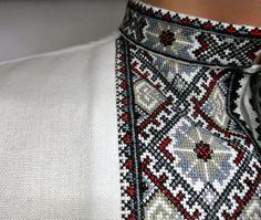 Handmade ukrainian vyshyvanka for men.- Handmade ukrainian vyshyvanka for men. Embroidered shirt Ukrainian embroidery handmade vyshyvanka for men / от Cheremshyna - Palestinian Embroidery, Crochet Hook Set, Wool Thread, Sewing Projects For Kids, Love Sewing, Sewing Men, Sewing Clothes, Men Clothes, Embroidery Dress