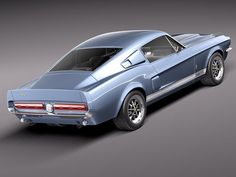This 1967 Shelby Mustang GT500 is a detailed 3D model from 3D Art Reactor.
