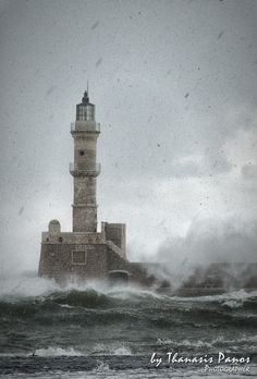 Snow storm at old port of Chania by Thanasis Panos on 500px