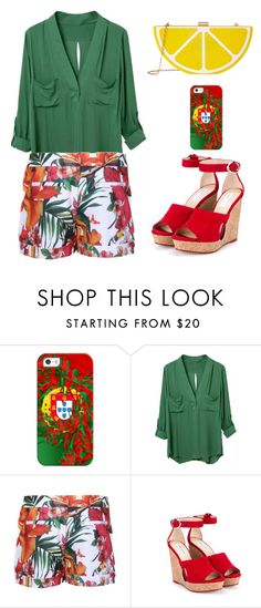 """""""Untitled #1766"""" by anarita11 ❤ liked on Polyvore featuring Casetify, Ted Baker, Jimmy Choo and Jessica McClintock"""