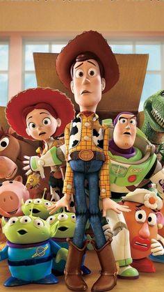 Disney Pixar, Disney Cartoons, Disney Phone Wallpaper, Wallpaper Iphone Cute, Movie Wallpapers, Cute Cartoon Wallpapers, Dibujos Toy Story, Cartoon Caracters, Toy Story 3