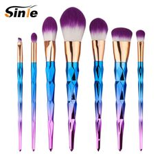 skinny girl New Arrival Sinle 7PCS Makeup Brushes Fantasy Set Foundation Powder Eyeshadow Kits Gradient color makeup brush set *** Details on product can be viewed on AliExpress website by clicking the image