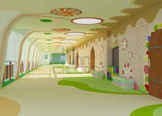 KINDERGARTEN INTERIOR DESIGN on Behance More