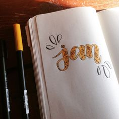 Bullet journal monthly cover page, January cover page. | @studylotus