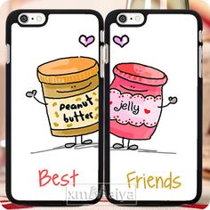 2pcs/lot Cute Personalized Monogrammed Best Friend Matching Pair Couple Phone Cases For Iphone 6 6 Plus 5 5s 5c 4 4s Case Cover