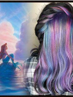 tendance coiffure des colorations inspires par lunivers disney - Perte De Cheveux Aprs Coloration