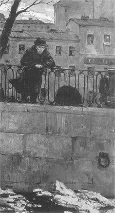 Dostoyevsky in St. Russian Art, Wallpaper Backgrounds, Wallpapers, Lock Screen Wallpaper, Dark Art, Literature, Digital Art, Illustration Art, Fine Art