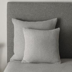 Bedroom cushion inspo.   Finley Collection - Soft Grey | The White Company