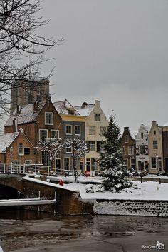 Christmas in Goedereede, South Holland, Netherlands