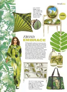 Jungalow via Bright Bazaar News Design, Icon Design, Palm Leaf Wallpaper, Interesting Blogs, Designers Guild, Tropical Houses, Plant Design, Design Inspiration, Design Ideas