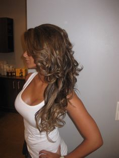 amazing hair. and so tan!