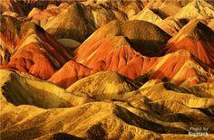 Zhangye Danxia Landform Geological Park, Chinese Rainbow Mountains in Zhangye
