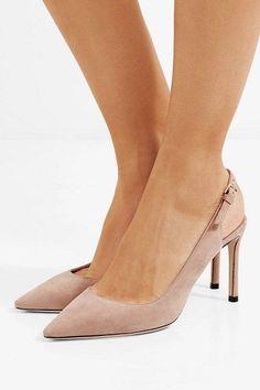 364413f6fe7d Jimmy Choo erin 85 suede slingback pumps.  jimmychoo  nudeshoes  pumps   heels  JimmyChooHeels