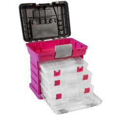 Creative Options Grab & Go Travel Storage - the perfect solution for the crafter on-the-go! Keep your supplies organized in this lightweight storage rack—it's perfect at home in the craft room, but also ready to grab and go in an instant. Whether you're headed to a class or a friend's craft circle, use this convenient, lightweight system to tote your essentials in style.