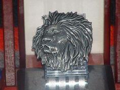 New Leo Lion Head Metal Pewter Finish Belt Buckle #Handmade #Novelty