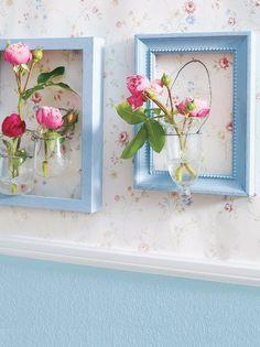 decorare casa con i fiori cornici