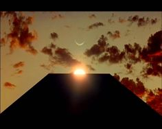 """The monolith at sunrise from """"2001: A Space Odyssey"""""""
