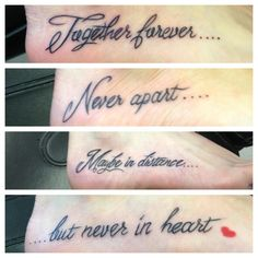 Sister tattoo-I call Never apart! @Holly Elkins Elkins Parker @Hillary Platt Bandley Platt Bandley (Parker) Sicking