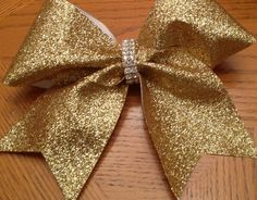 Radiance glitter cheer bows by Bowstobling on Etsy