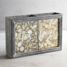 A little bit fruity, a little bit oaky? No matter your taste, our wine cork holder with his and hers compartments is a great way to capture memories of special occasions like anniversaries, holidays and time spent with family and friends.