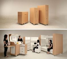 compact fold away kitchen, guest room and office.  Wow!  Go to the website and check out the 2min video if you want.  Very cool.