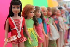 Skippers, all in a row! Barbie Doll House, Barbie Life, Ken Doll, Barbie World, Barbie And Ken, Barbie Sisters, Barbie Family, Vintage Barbie, Vintage Dolls
