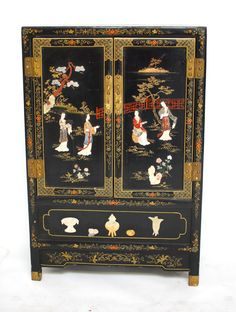 Japanese Geisha Wooden Hanging Screens 4 Piece Set