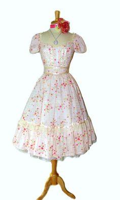 Vintage Handmade Gunne Sax Dress.