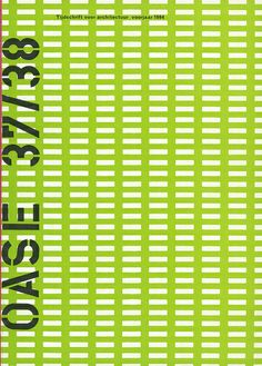 OASE Magazine cover by Karel Martens (issue 37/38, 1994)