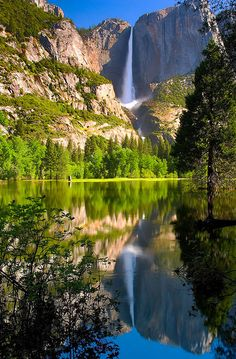 Amazing Waterfalls Around the World | Yosemite Falls, California  Located in Yosemite National Park in the Sierra Nevada of California, Yosemite Falls is the highest measured waterfall in North America