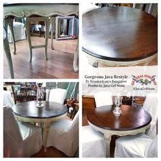 General Finishes Java Gel Stain produces absolutely stunning results!  Brookielynn's Bungalow refinished this gorgeous table and it looks fabulous!