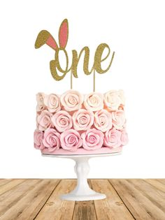 Excited to share the latest addition to my #etsy shop: One Bunny Cake Topper - Any Color Glitter - Easter - Smash Cake - Rabbit - Little Bunny- First Birthday- 1st Birthday #papergoods #firstbirthday #silver #caketopper #smashcake #numbercaketopper #birthday #boy #girl http://etsy.me/2nSPEor