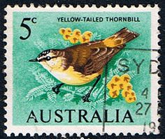 Australia 1966 SG 386 Yellow Tailed Thornbill Bird Fine Used  SG 386 Scott 400 Other Australian Stamps Here