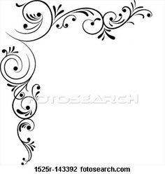 Page Borders Design, Border Design, Free Design, Wall Art Designs, Paint Designs, Swirl Nail Art, Wood Burning Stencils, Henna Drawings, Free Clipart Images