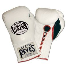 Cleto Reyes Training Boxing Gloves, White, 14-Ounce by Ringside. $179.99. Sleek, contoured design with an extra long cuff-this is the classic Mexican boxing glove. Form-fitting, curved knuckle area for better fist closure and a more natural feel. Manufactured from head leather with water-resistant nylon lining.