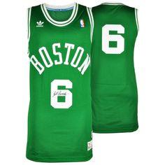 Bill Russell Boston Celtics Autographed Green Throwback Swingman Jersey bfc92474a