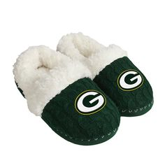 Officially Licensed NFL Women's Moccasin Slippers - Packers