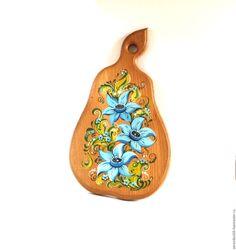 Купить Разделочная доска из бука роспись по дереву деревянная посуда - коричневый, разделочная доска