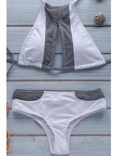 Raya empalmado cabestro conjunto del bikini