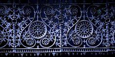 decorative iron work fence