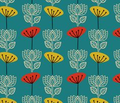 Love!  More DR chair options. Retro Lotus fabric by joypure
