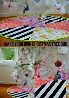MAKE YOUR OWN CHRISTMAS TREE RUG - fabrik