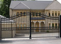 Arch Top Wrought Iron Gate