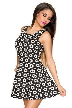 Retro-Kleid schwarz creme   Sommerkleider   Kleider   Röcke   BEKLEIDUNG    FRAUEN ca22594ce0