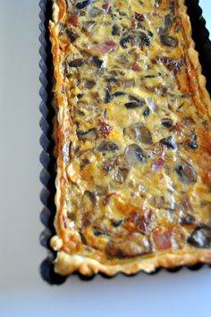 quiche de berenjenas y champiñones Easy Salad Recipes, Veggie Recipes, Vegetarian Recipes, Cooking Recipes, Healthy Recipes, Quiches, Tapas, Good Food, Yummy Food