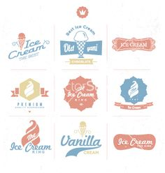 Free Vector | Ice cream shop logo vector - by zzenko on VectorStock®                                                                                                                                                                                 More