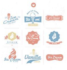 Free Vector | Ice cream shop logo vector - by zzenko on VectorStock®