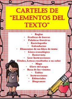 This product is completely in SPANISH and contains anchor charts/posters in regards to ALL the SPANISH Elements in a Nonfiction text.  These posters can be used as a guide to help students remember all the elements in a nonfiction text.  This also can be used in the students interactive notebook as a reminder of all the elements in a nonfiction study.This product contains the following:Reglas Graficas de barras Palabras CursivasEnciclopediaCalendariosElementos de un libro de textoLnea cronolgica...