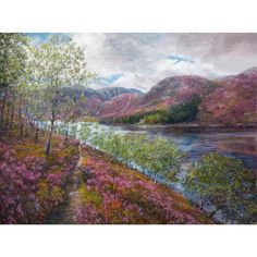 Signed limited edition giclee print by Howard Butterworth. This painting is a view looking across Loch Muick to Glas-Allt-Shiel on the Balmoral Castle estate in the Cairngorms National Park. #Loch Muick #GlenMuick #Ballater #RoyalDeeside #art #scottishart #landscapepainting #prints #limitededition #Artcollecting #artcollection #scottishfineart #fineart #scotland #Cairngorms #NorthEast250 Butterworth, Interactive Art, Source Of Inspiration, Giclee Print, Scotland, This Is Us, Journey, This Or That Questions, Prints